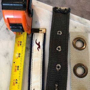 Hollister Accessories - 3 PC Belt lot 1 Hollister belt included